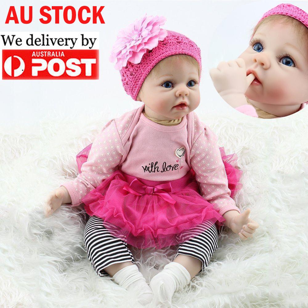Beautiful Lifelike Newborn Baby Realistic Vinyl Reborn ...