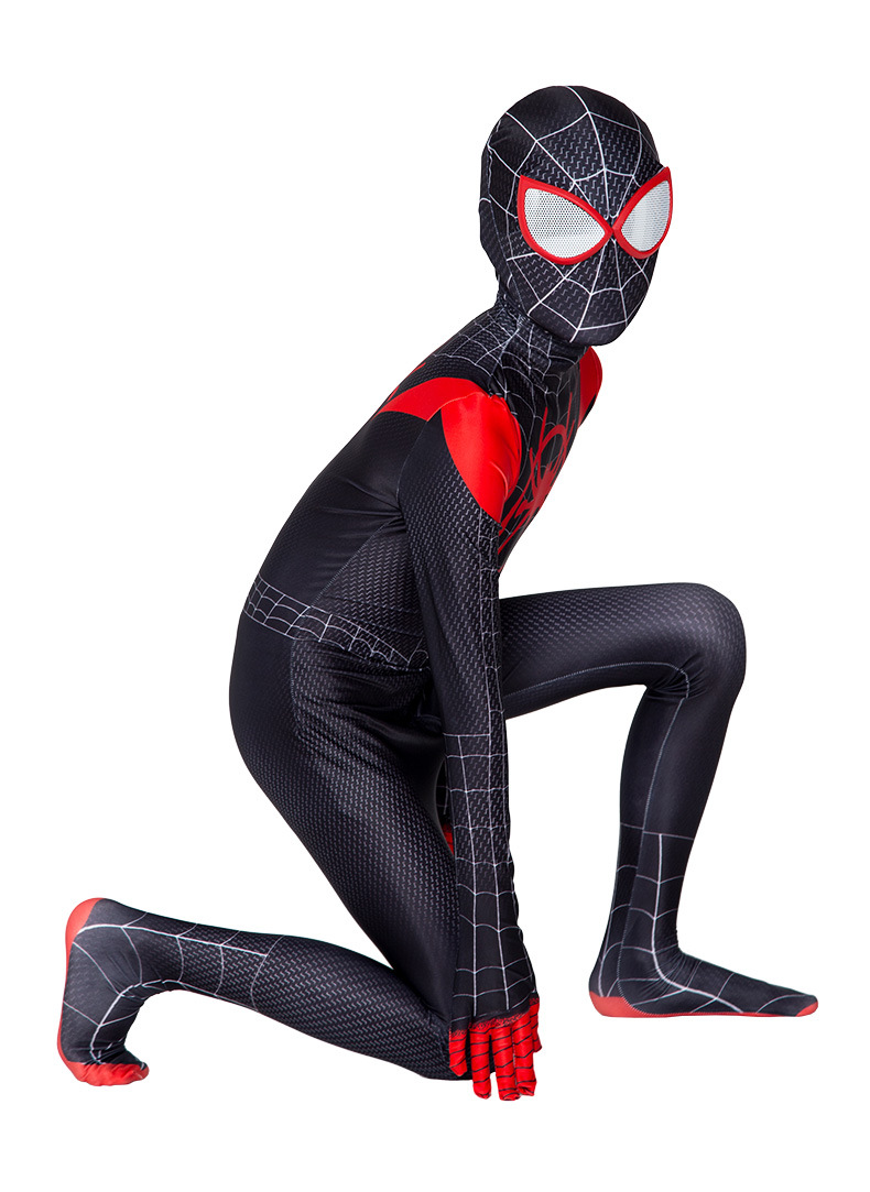 2020 Spider Man Into the SuperHero Costume Kids Miles Morales Cosplay Party Suit - eBay